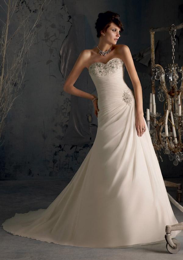 Princess Grace Wedding Dress.A Line Princess Grace