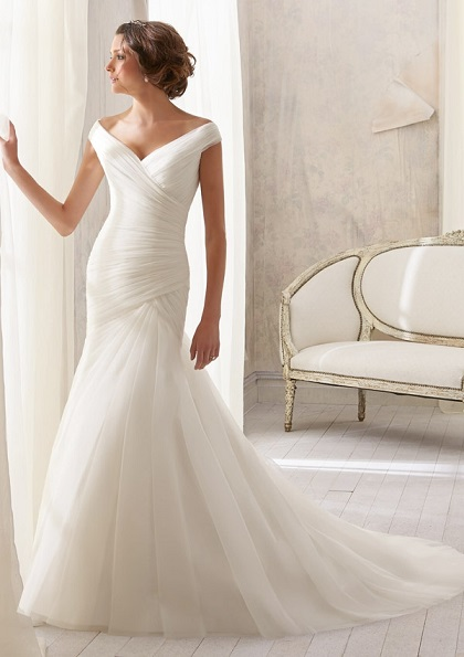 Classic mermaid wedding dress