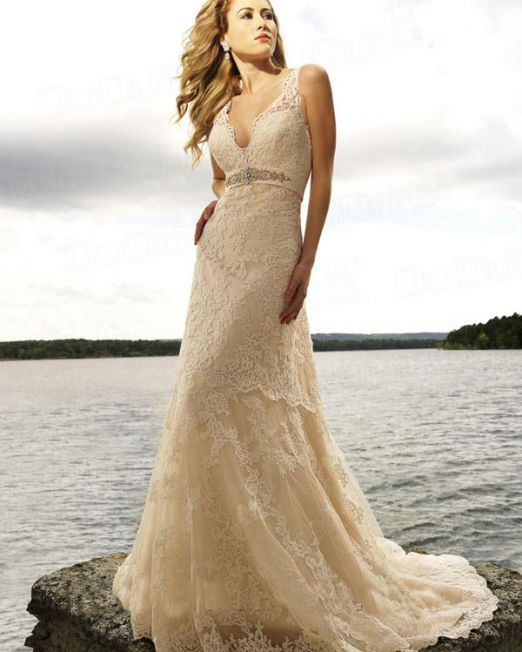 Monzelle. mermaid wedding gown with lace