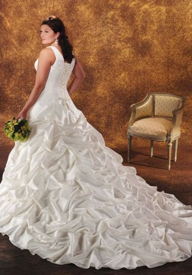 Gia A Line plus size wedding gown