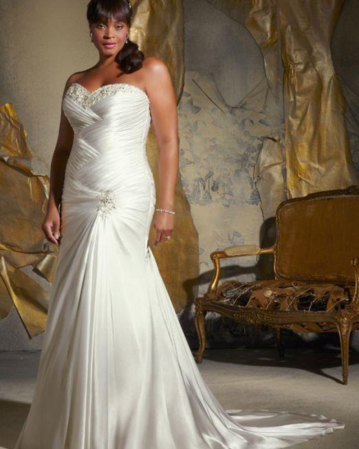 mermaid sweetheart plus size wedding dress