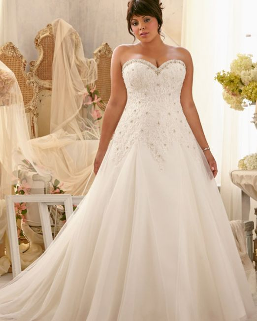 Heidi plus size wedding dress