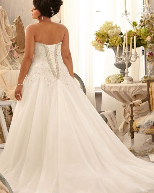 Heidi plus size wedding gown