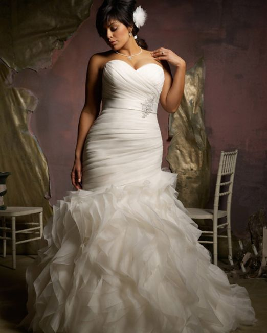 Judy mermaid wedding dress plus size
