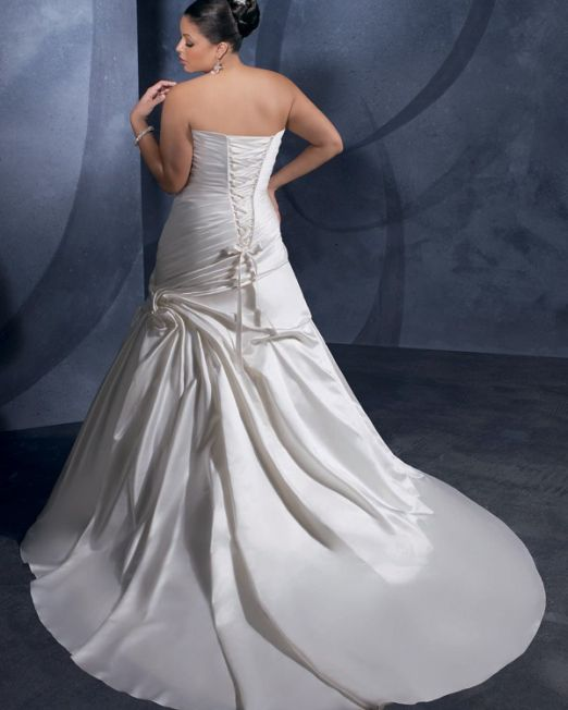 Marelise a line strapless plus size wedding dress