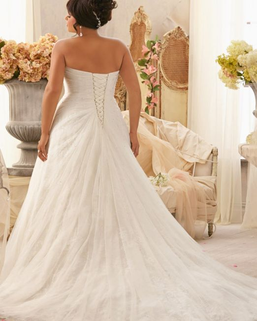 Nancy Princess tulle plus size wedding dress