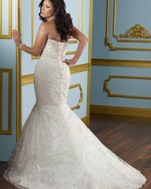 Pamela mermaid sweetheart plus size wedding dress