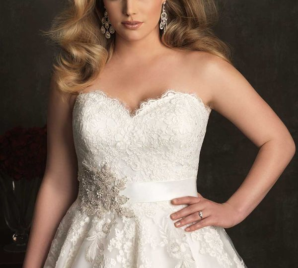 Skyler A-line plus size sweetheart floor length wedding dress