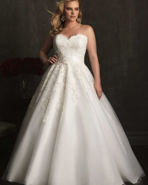Skyler A-line sweetheart floor length plus size wedding dress