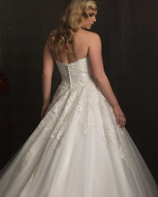 Skyler A-line sweetheart floor length plus size wedding gown